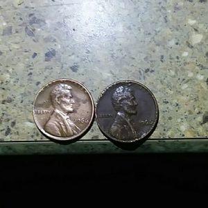 I966 penny no mint mark